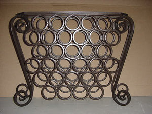 Single S Scroll /w Wine Rack