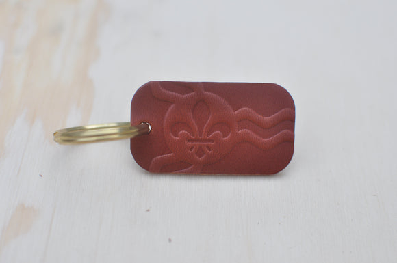 Brown STL Flag Key Tag