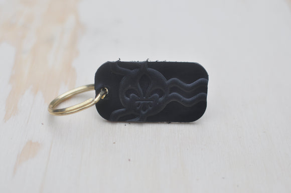 Black STL Flag Key Tag