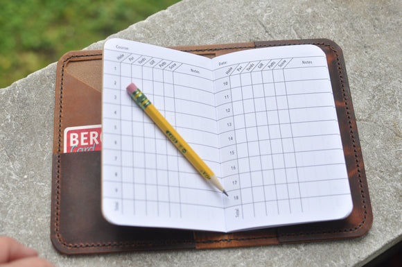 The Ozark Golf Score Book - Espresso Collection