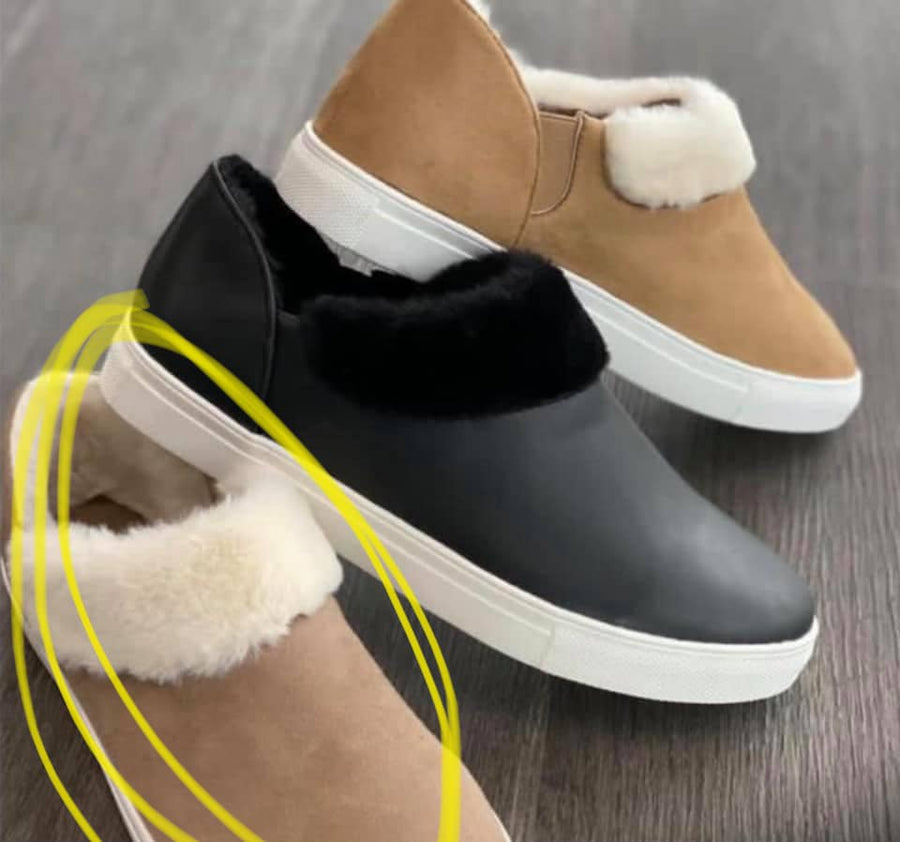 """Feeling Fuzzy"" TAN Shoes"