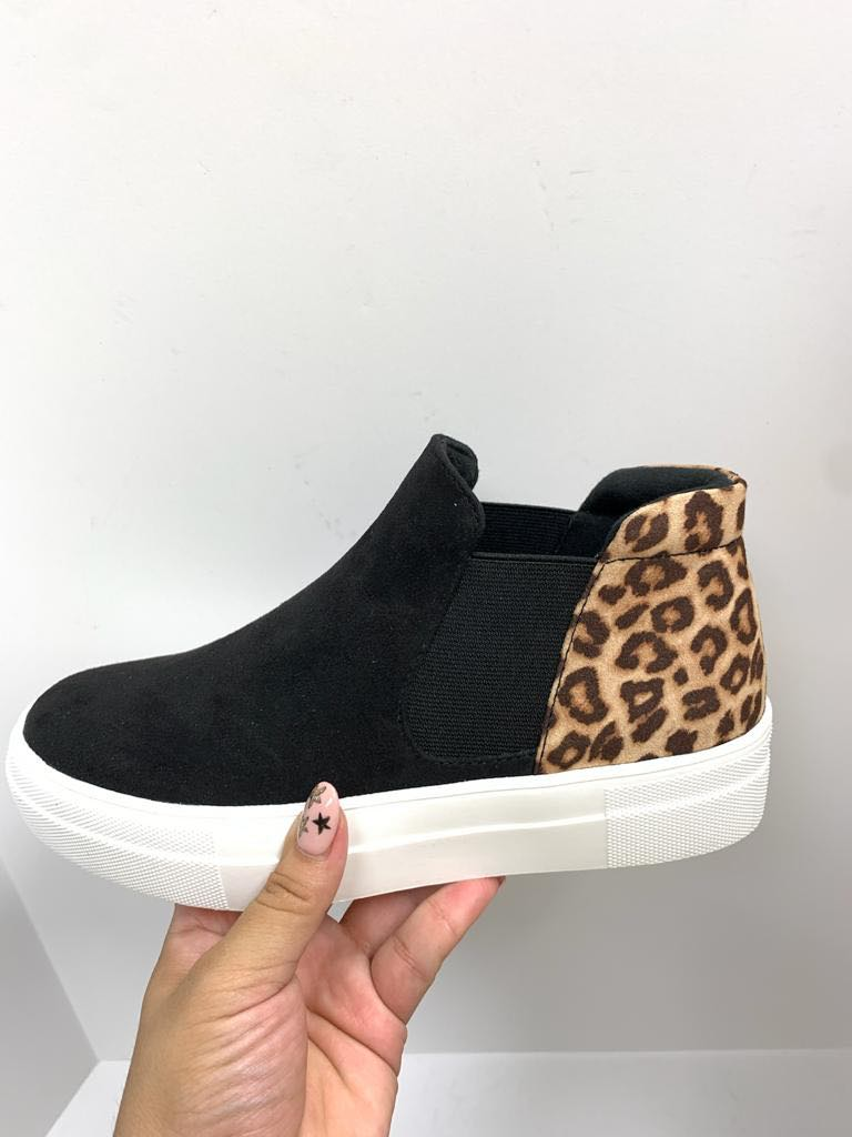 """Outlaw"" Cheetah and Black Shoe Pre-Order"