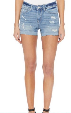 Judy Blue- Raw Hem Cuff Shorts 1550 LIGHT