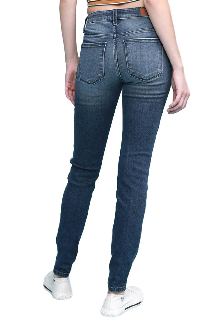 Judy Blue Distressed Midrise Skinny 82133