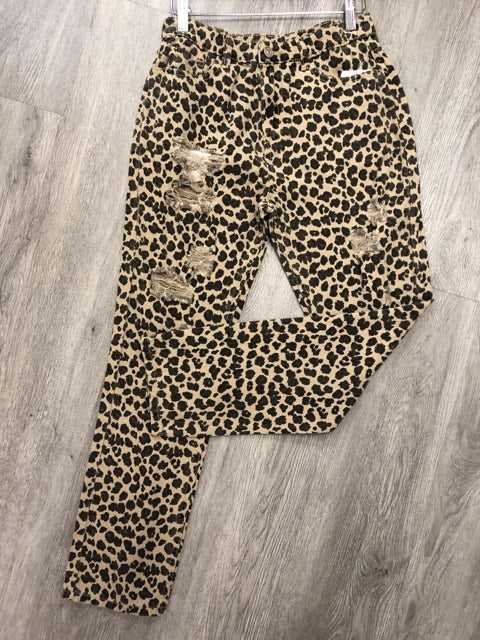 Pants- Leopard Distressed Boyfriend