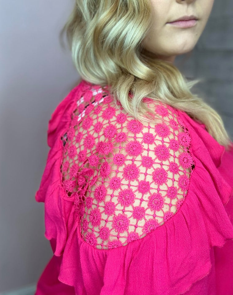 Top- Fuchsia Lace