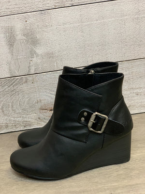 Black Blowfish Leather Bootie