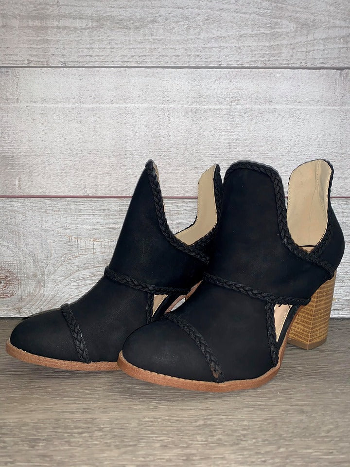 """Moving Forward"" Bootie (Black)"
