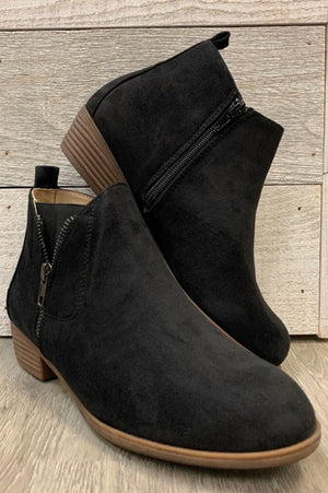 """Stand Out"" Black Bootie"