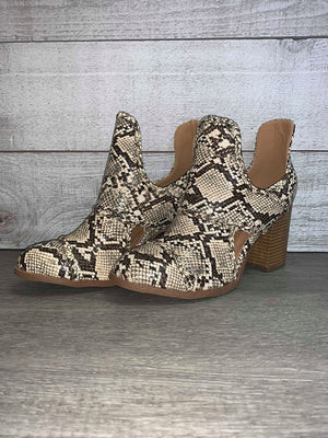 """Moving Forward"" Bootie (Snakeskin)"