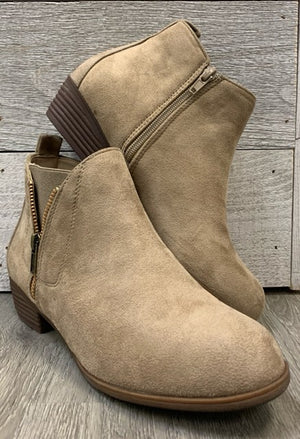 """Stand Out"" Taupe Bootie"