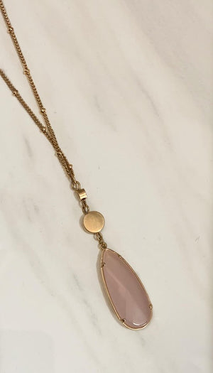 Blush Teardrop Necklace
