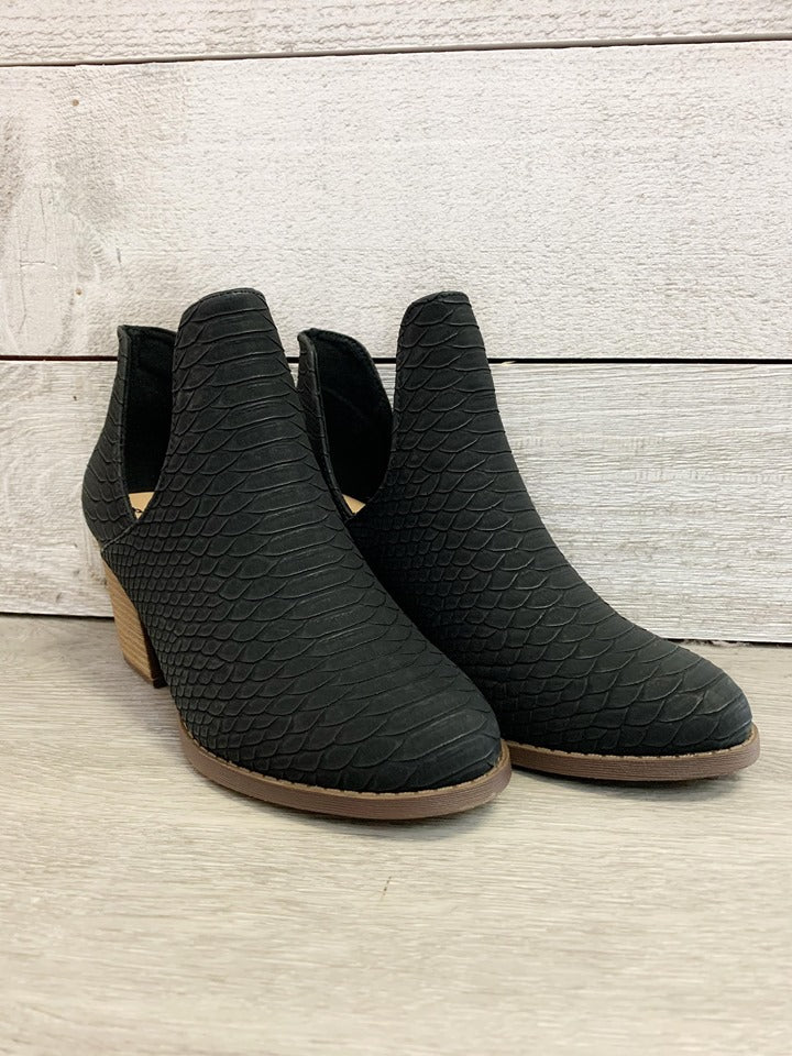 """Right on Time"" Black Bootie"