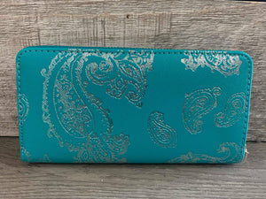 Turquoise Paisley Wallet