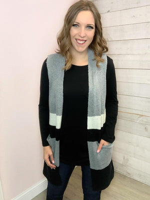 """Wrap Up"" Heather Grey Vest"