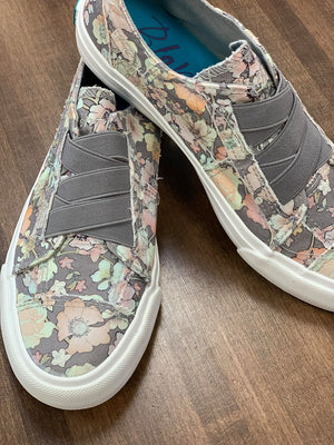 Gray Floral Blowfish Tennis Shoes