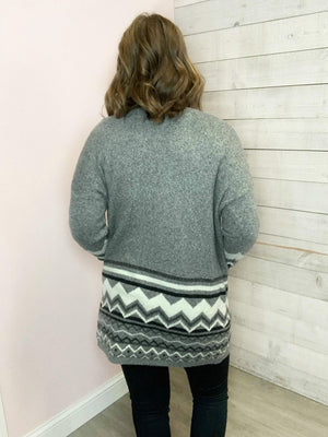 """Warm Love"" Grey Cardigan"