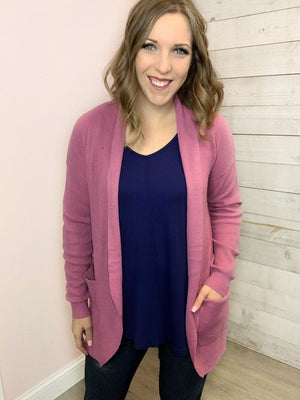 """Now Featuring"" Dusty Pink Cardigan"