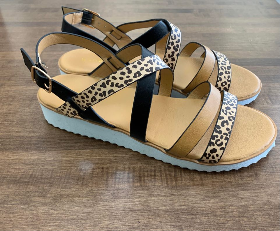 """Sassy Chic"" Cheetah Strappy Sandal"