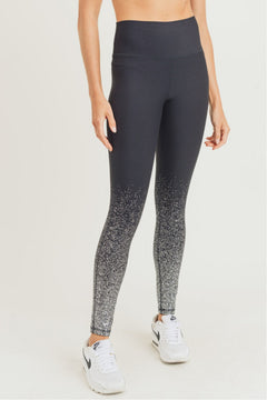 """Seize the Day"" Metallic Raindrop Foil Highwaist Leggings"