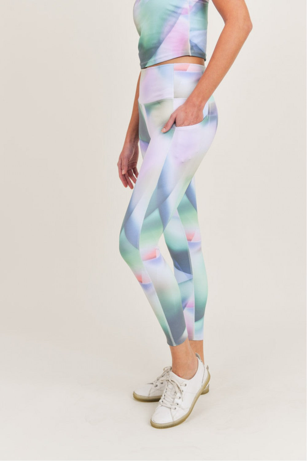 """Kaleidoscope"" Highwaist 7/8 Leggings"