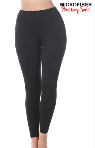 """Moving On Up"" Black Legging"