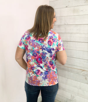 """True Love's Kiss"" Ivory Floral Top"