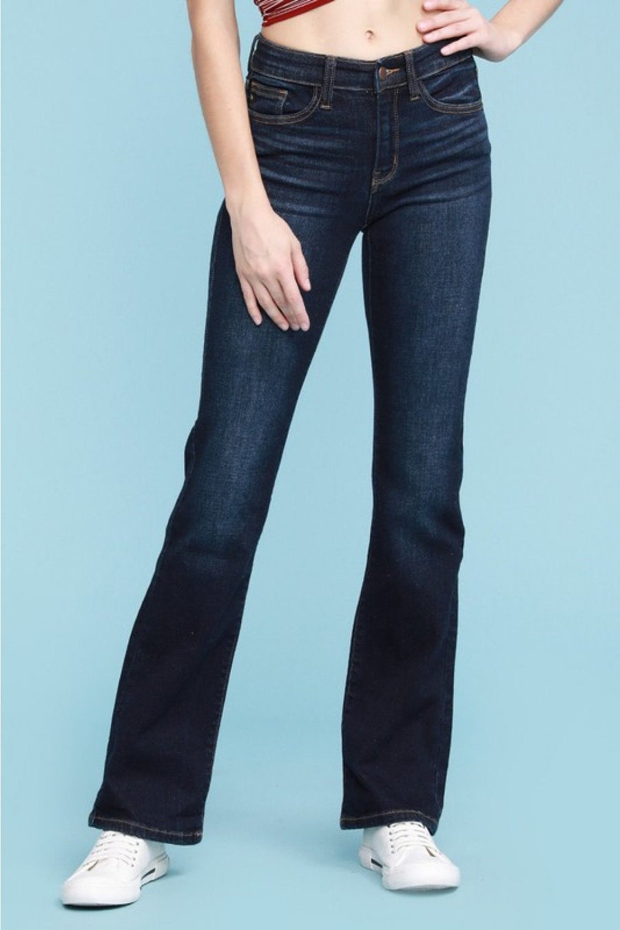 """Whiskered Dark Bootcut"" Judy Blue 32"" 82361"