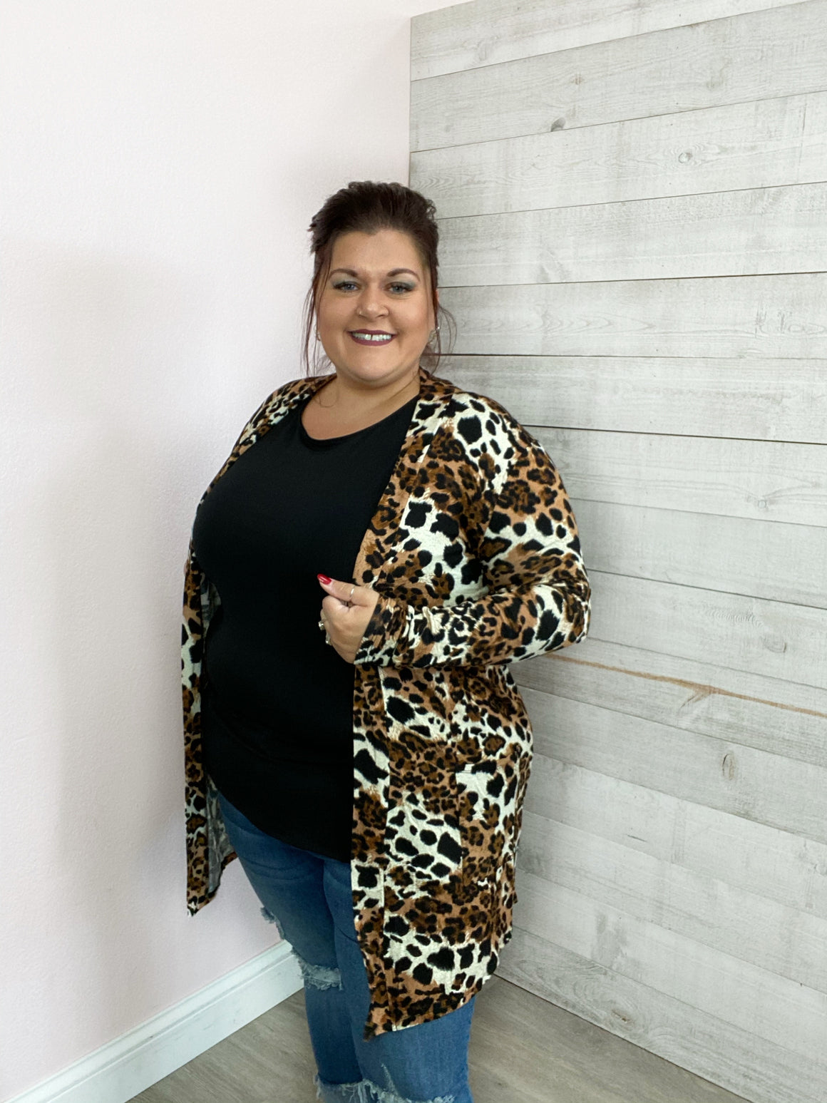 """Run Away Together"" Leopard Cardigan"