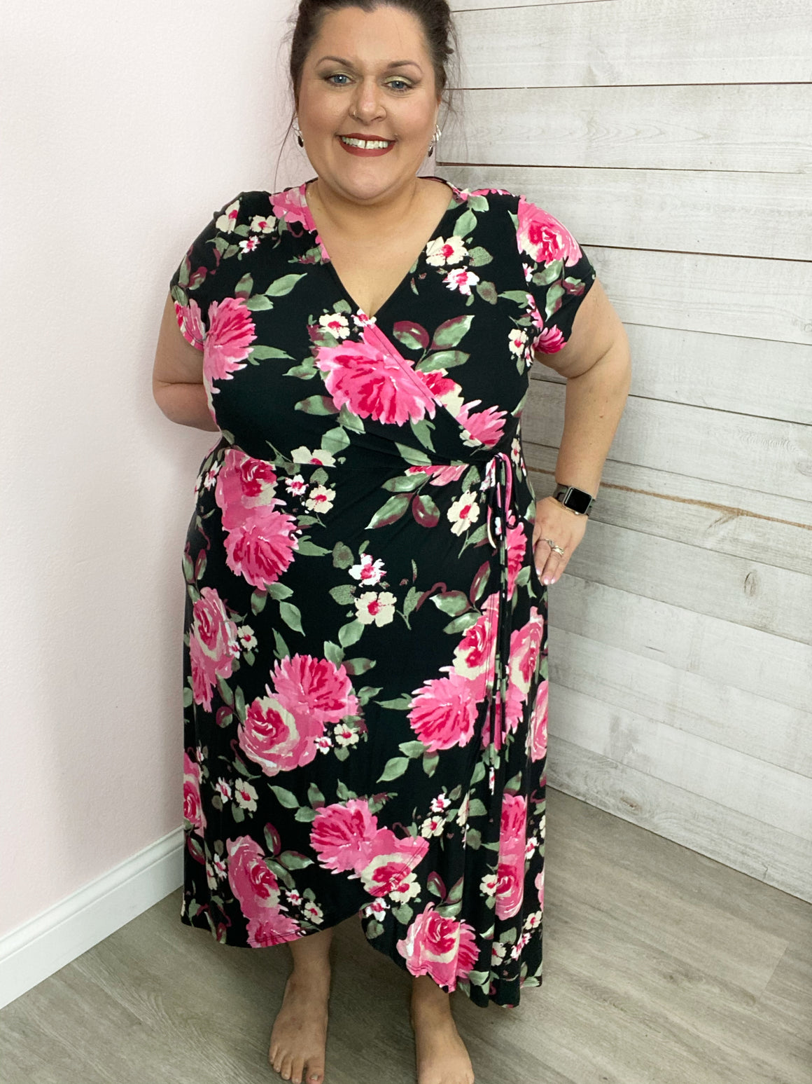 """One More Dance"" Floral Wrap Dress"