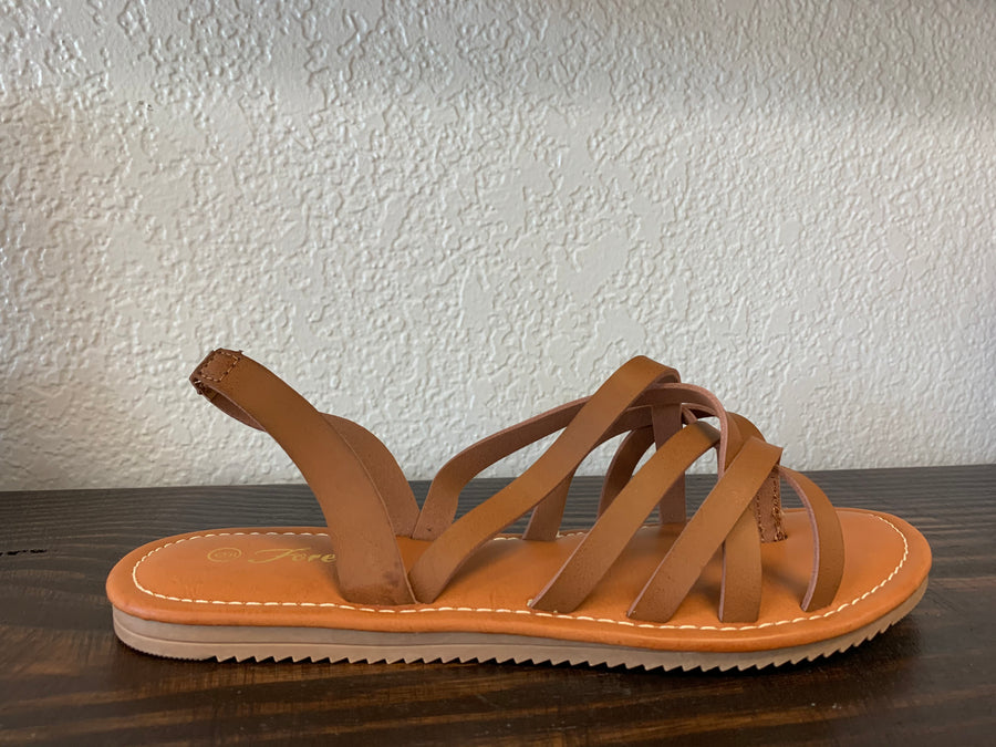 """Way To You"" Tan Sandal"