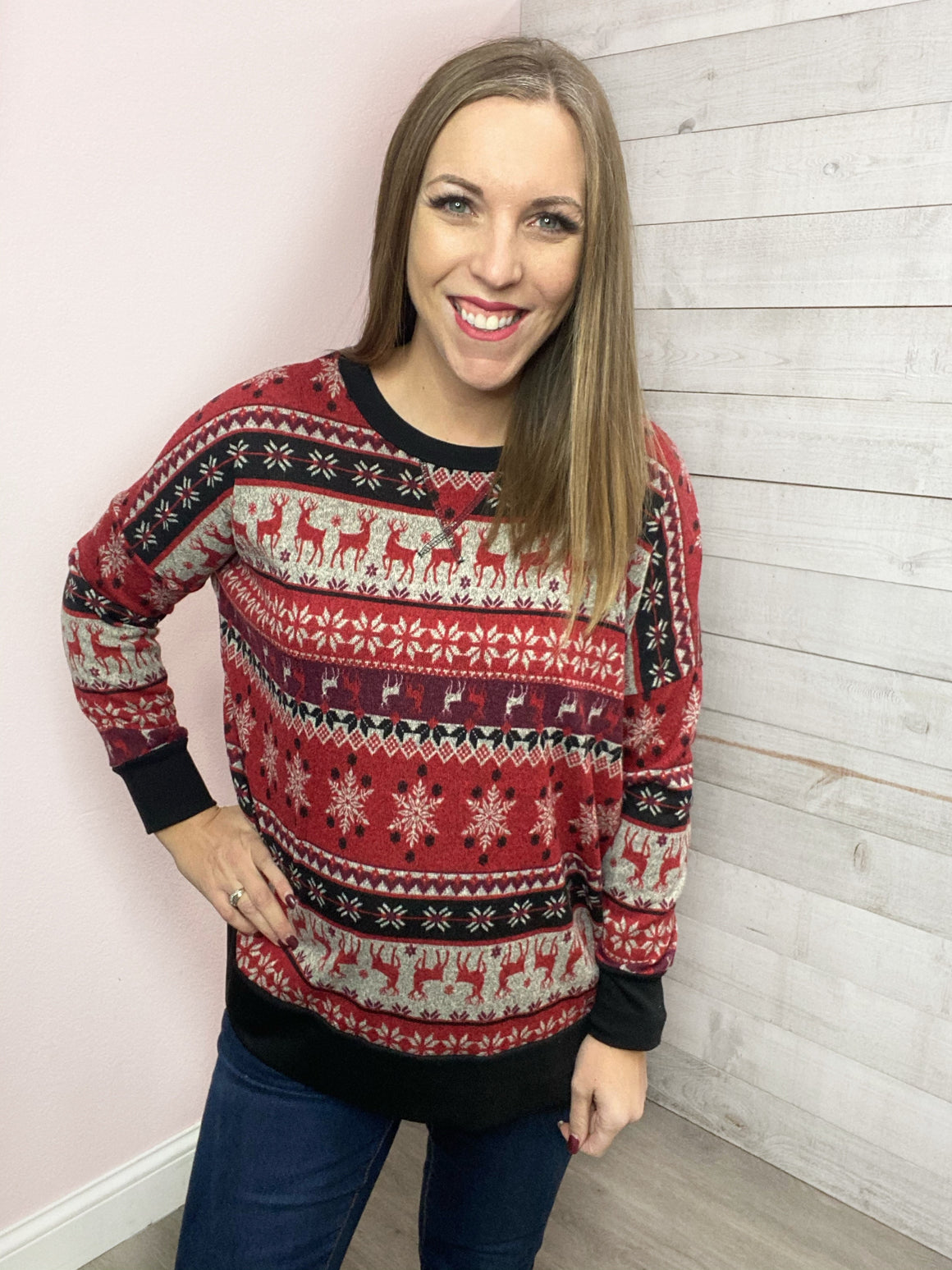 "BF ""Fireside Dreams"" Winter Sweater"