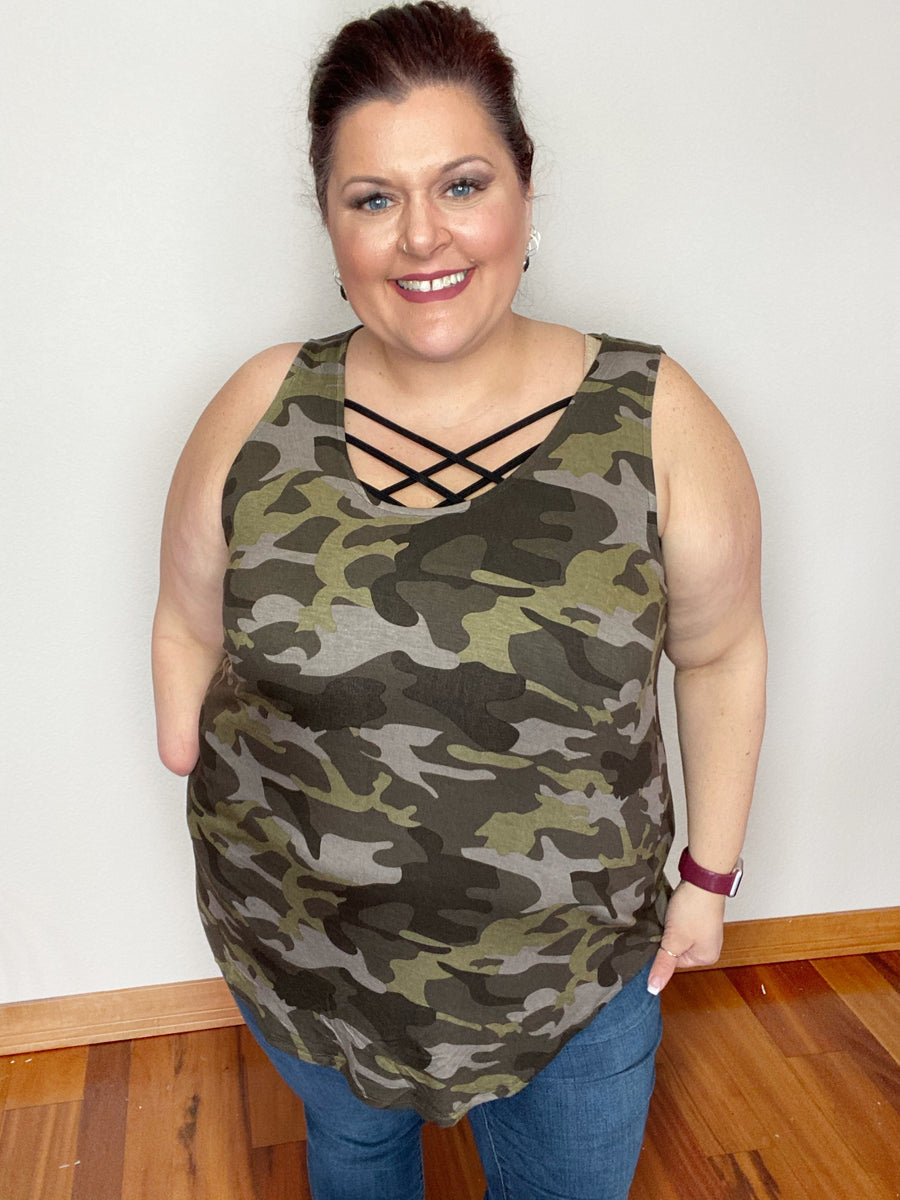 """Shot Down"" Green Camouflage Tank"