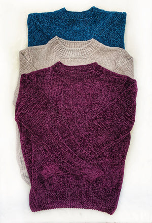 "BF ""Soft Vibes"" Plum Sweater"