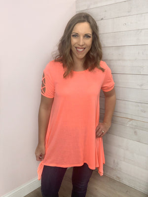 """Feel It"" Coral Top"