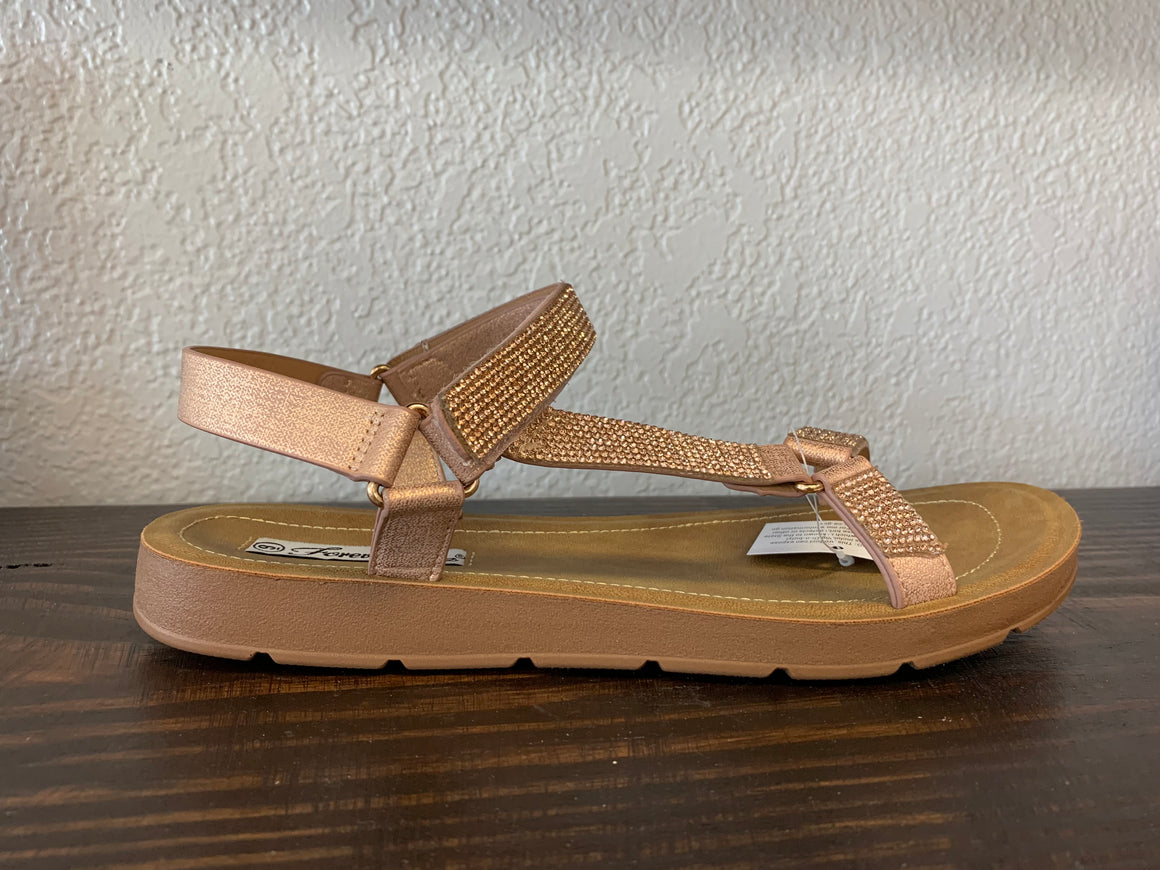 """Now Featuring"" Rose Gold Sandal"