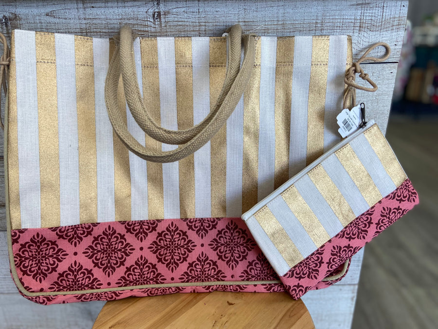 Large Tote with Cosmetic Bag
