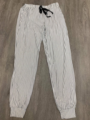 Pants- Black and White Stripes