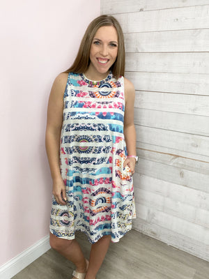 """Summer Feels"" Racerback Dress with Pockets"