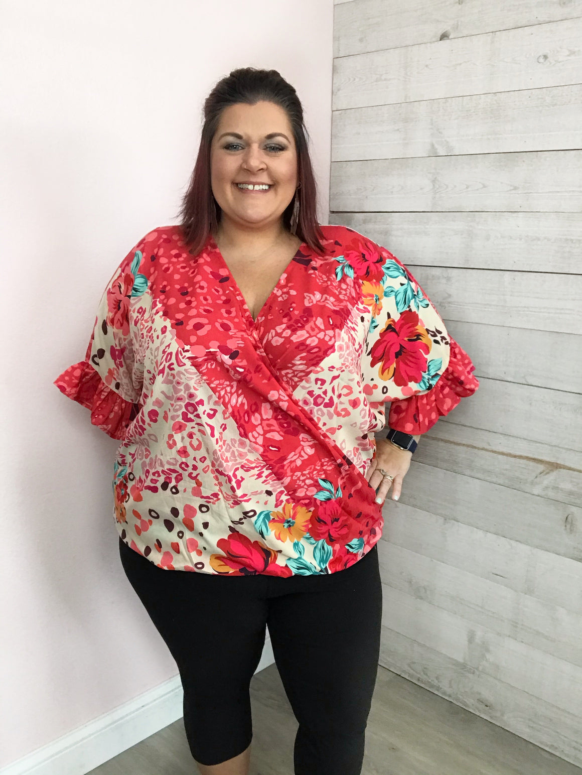 """Mix It Up"" Coral Top"