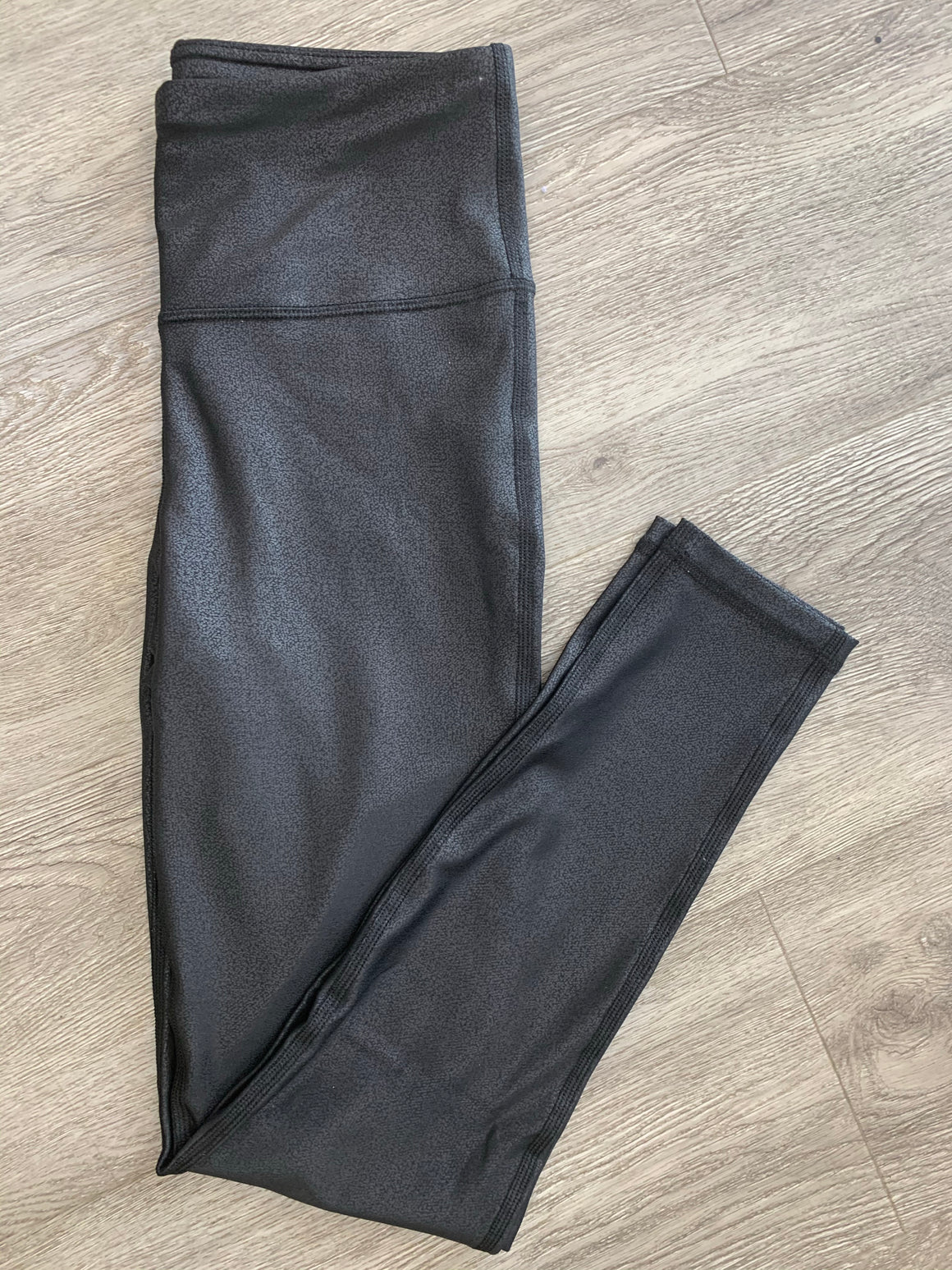 """Hot Pants"" Black Foil Leggings"