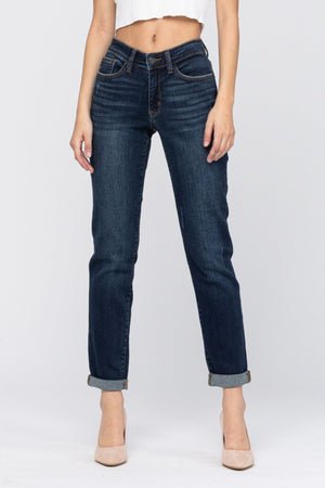 Judy Blue Mid Rise Tapered Slim Fit 82128