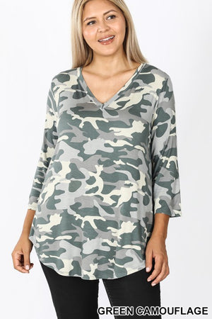 "BF- ""Where You At""- Camo Top"