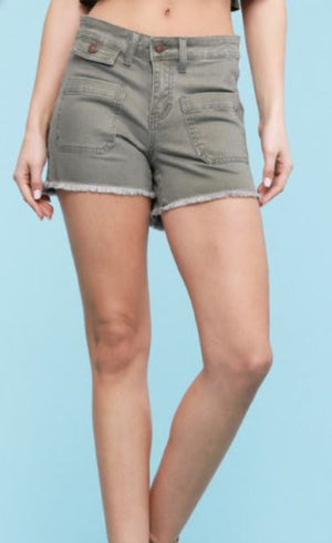 Olive Judy Blue Shorts1571