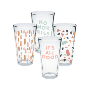 It's All Good Pint Glass Set of 4