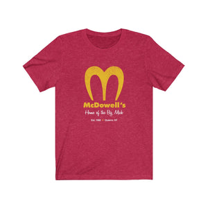 McDowells - Home of the Big Mick - Coming to America parody t-shirt