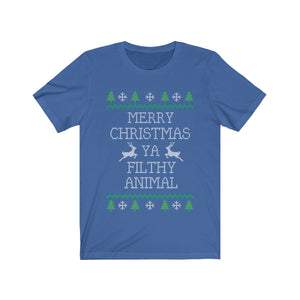 Merry Christmas Ya Filthy Animal - funny xmas t-shirt