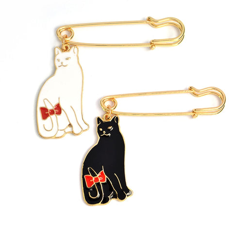 Tail Bow Cat Brooch - catzzcorner