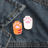 Cat Paws Brooch, Orange & White - catzzcorner