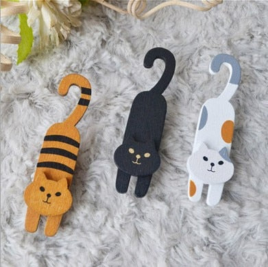 Little Cat Wooden Clip - catzzcorner